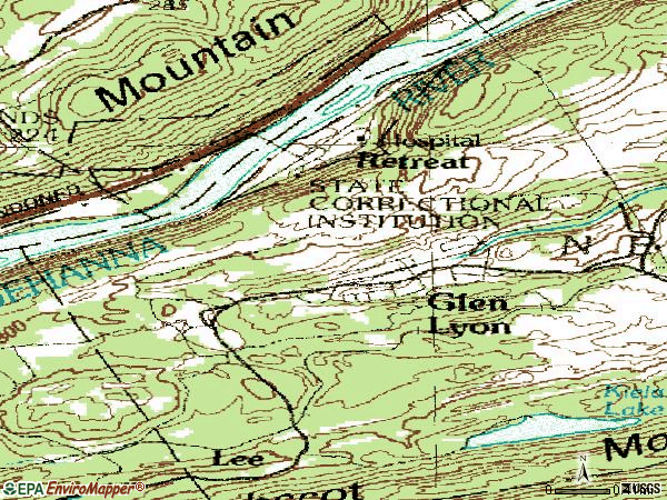 Zip code 18617 topographic map