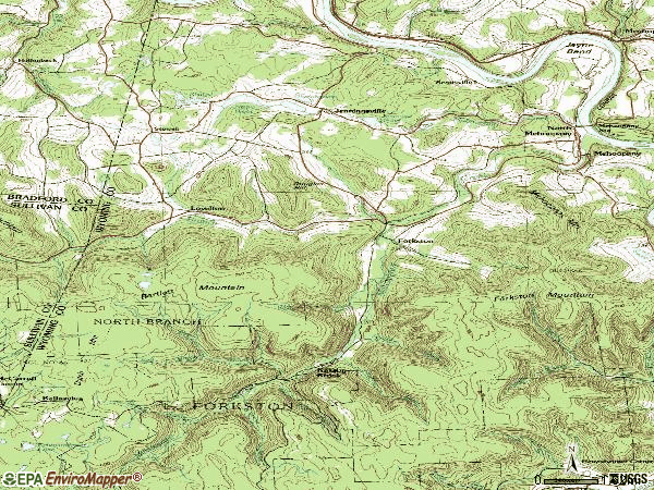 Zip code 18629 topographic map