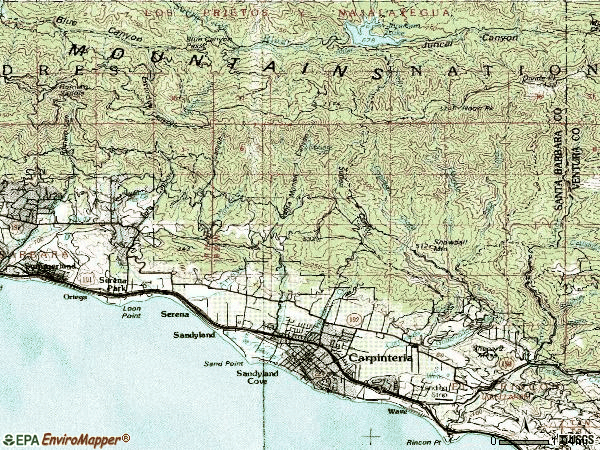 Zip code 93013 topographic map