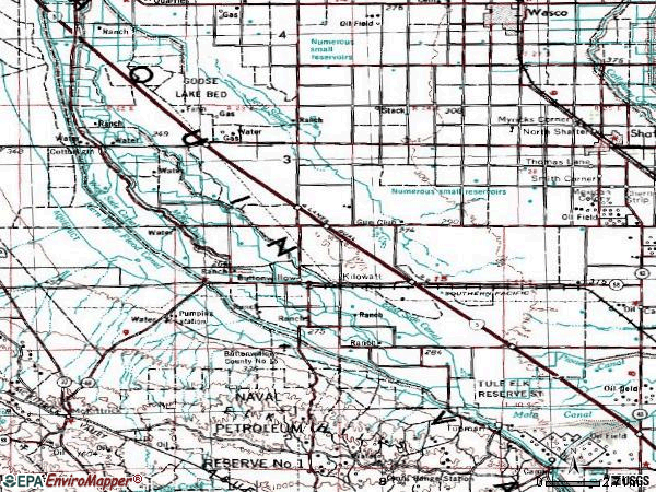 Zip code 93206 topographic map