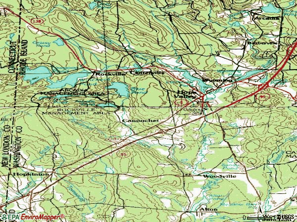 Zip code 02832 topographic map