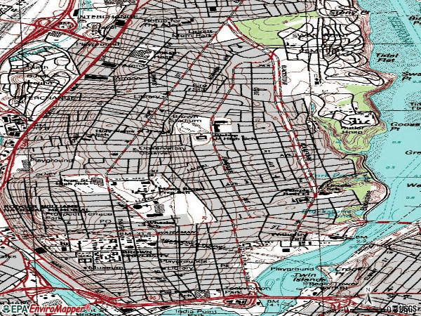 Zip code 02906 topographic map