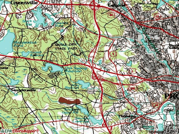 Zip code 02919 topographic map