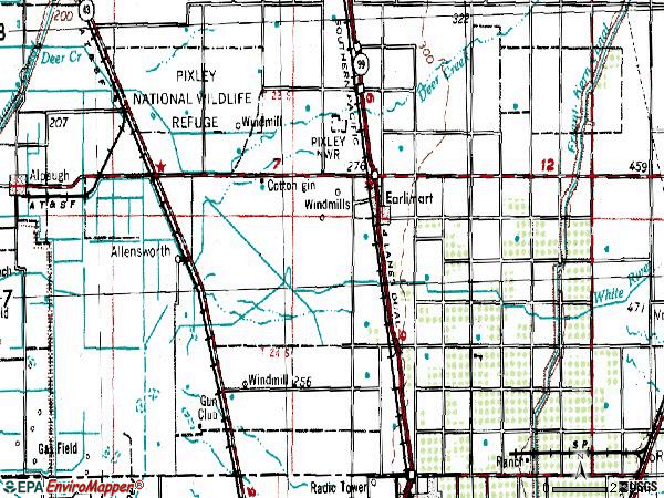 Zip code 93219 topographic map