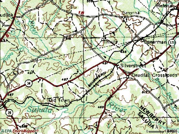 Zip code 29145 topographic map