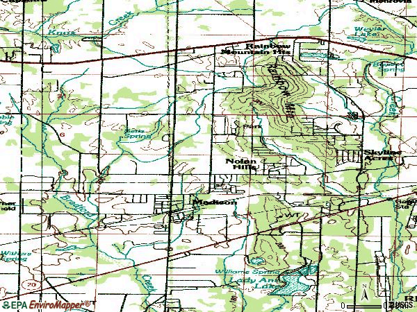 Zip code 35758 topographic map