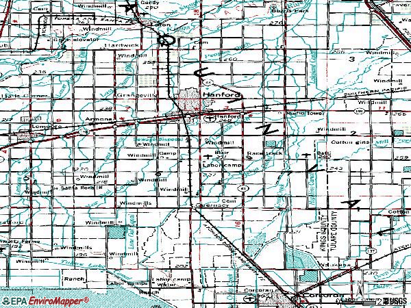 Zip code 93230 topographic map
