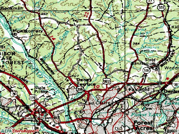 Zip code 29203 topographic map