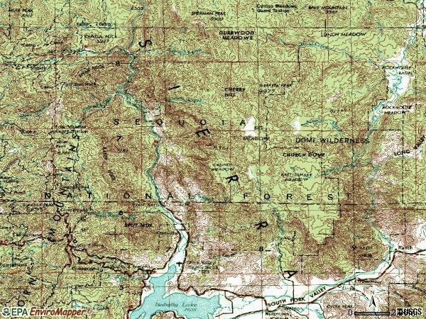 Zip code 93238 topographic map