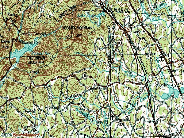 Zip code 29356 topographic map