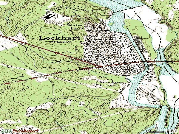 Zip code 29364 topographic map
