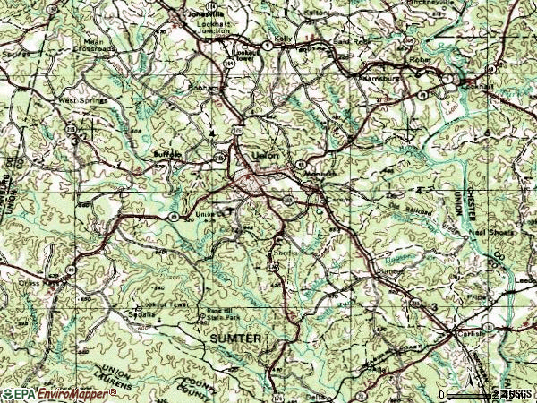 Zip code 29379 topographic map