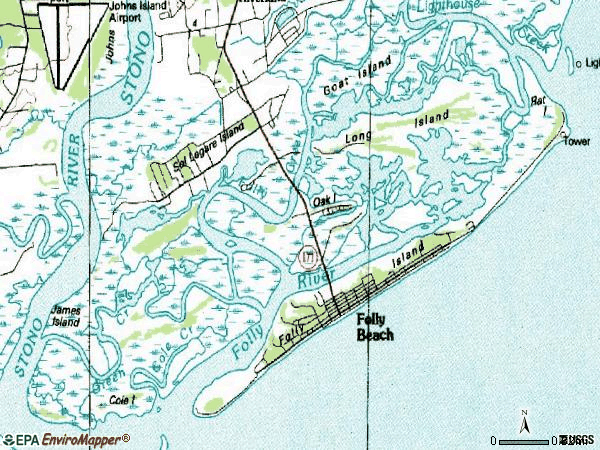 Zip code 29439 topographic map