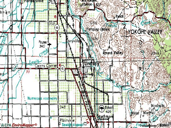 Zip code 93247 topographic map