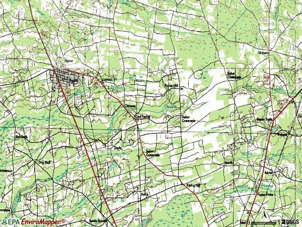 Zip code 29511 topographic map