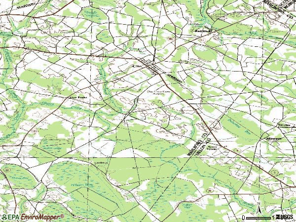 Zip code 29525 topographic map