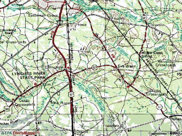 Zip code 29541 topographic map