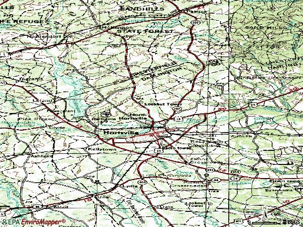 Zip code 29550 topographic map