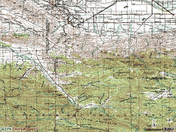 Zip code 93252 topographic map