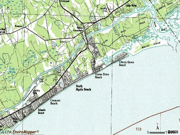 Zip code 29582 topographic map