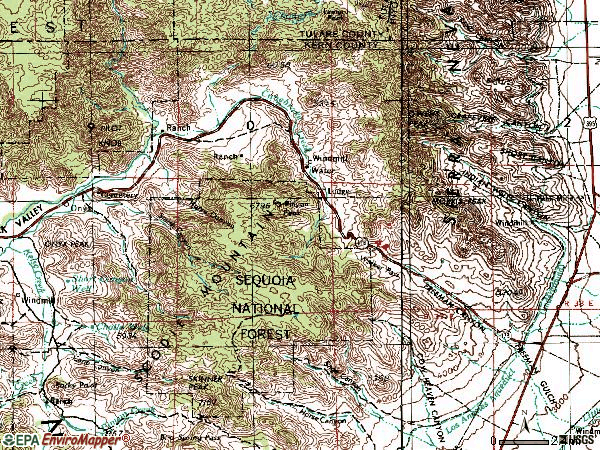 Zip code 93255 topographic map