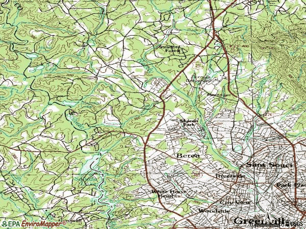 Zip code 29617 topographic map