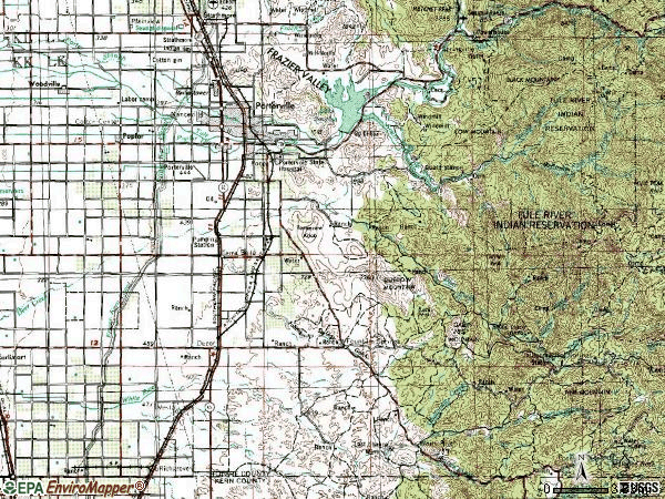 Zip code 93257 topographic map