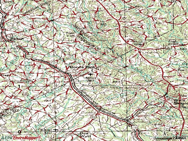 Zip code 29654 topographic map