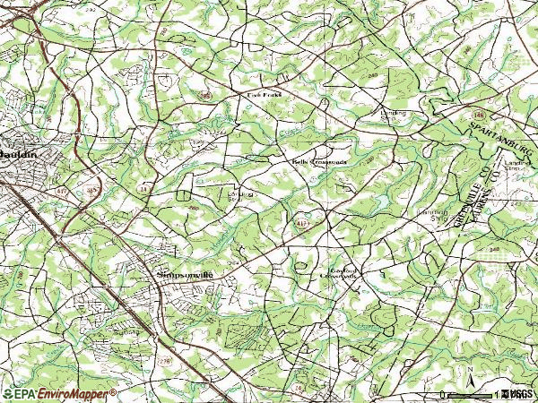 Zip code 29681 topographic map