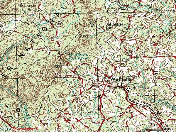 Zip code 29691 topographic map