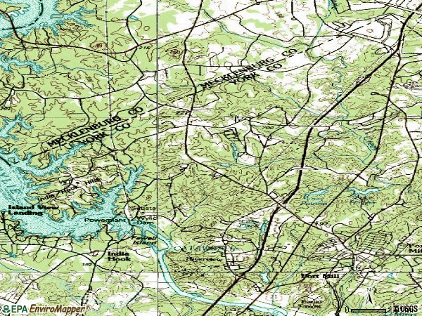 Zip code 29708 topographic map