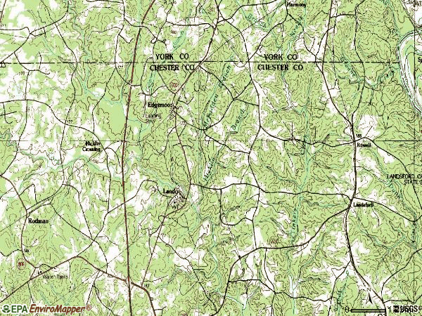 Zip code 29712 topographic map