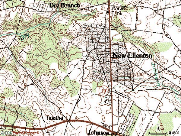 Zip code 29809 topographic map