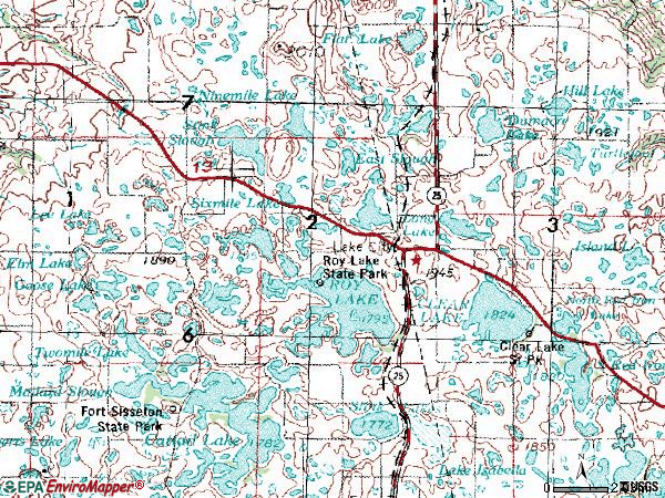 Zip code 57247 topographic map