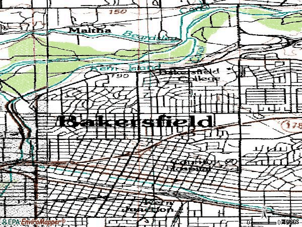 Zip code 93305 topographic map