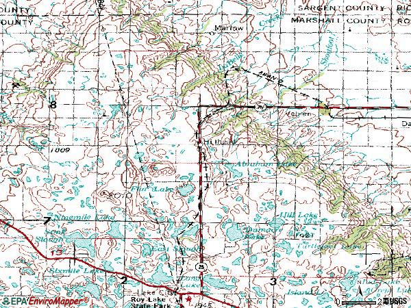 Zip code 57270 topographic map