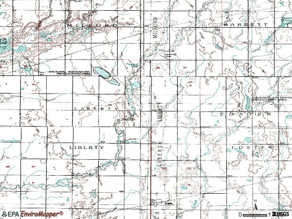 Zip code 57386 topographic map