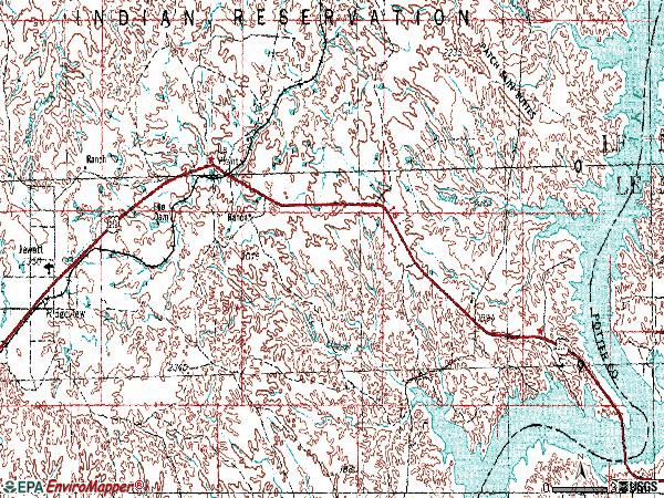 Zip code 57652 topographic map