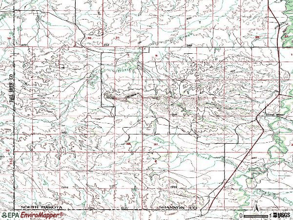Zip code 69337 topographic map