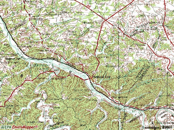 Zip code 37015 topographic map