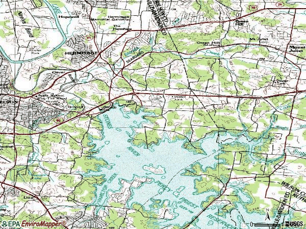 Zip code 37076 topographic map