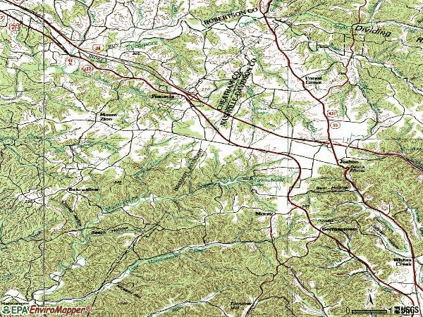 Zip code 37080 topographic map