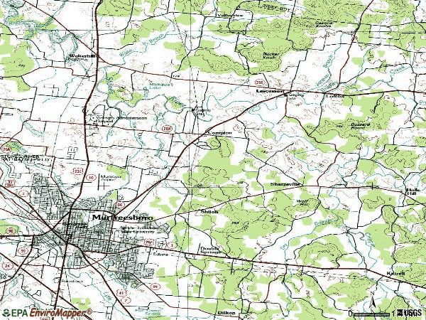 Zip code 37130 topographic map