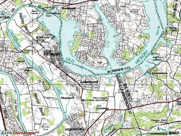 Zip code 37138 topographic map