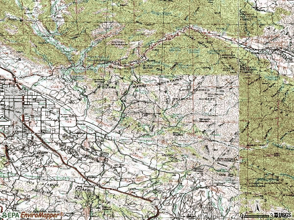 Zip code 93454 topographic map
