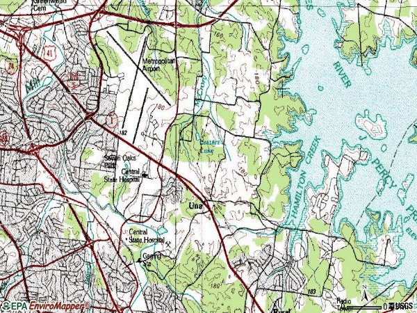 Zip code 37217 topographic map