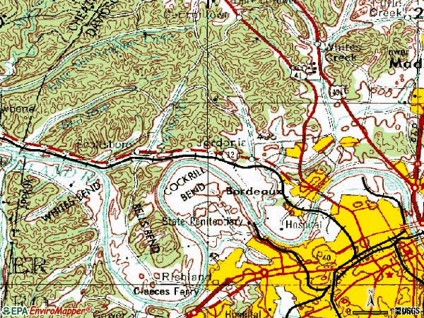 Zip code 37218 topographic map