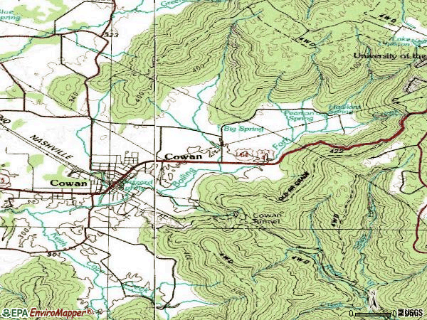 Zip code 37318 topographic map