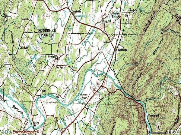 Zip code 37325 topographic map