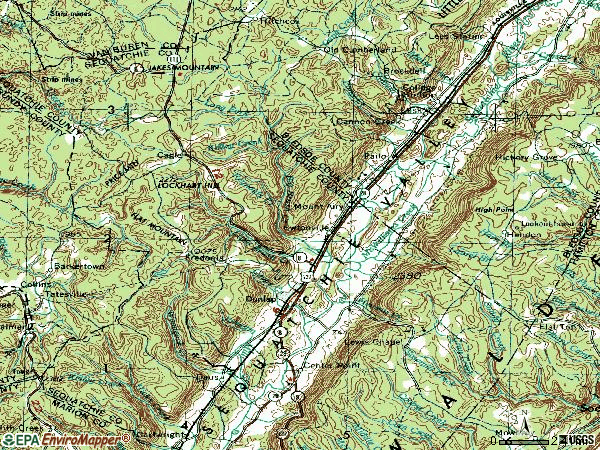 Zip code 37327 topographic map